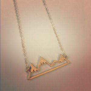 Jewelry - Gold colored mountain range necklace
